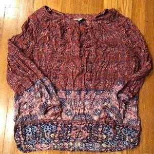 Lucky brand blouse size medium